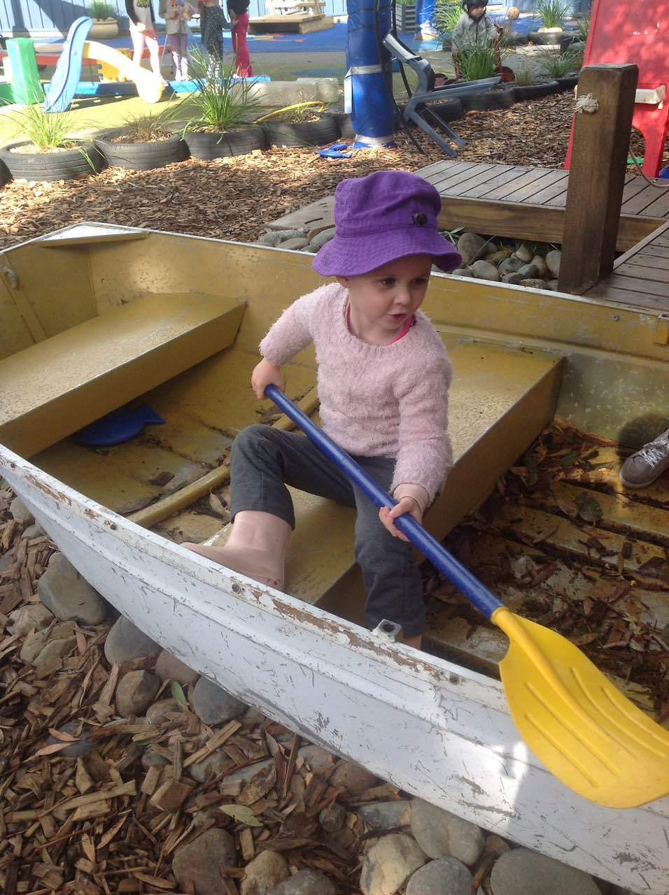 Charlette travelled far and wide in the boat, rowing her way through the deep seas.